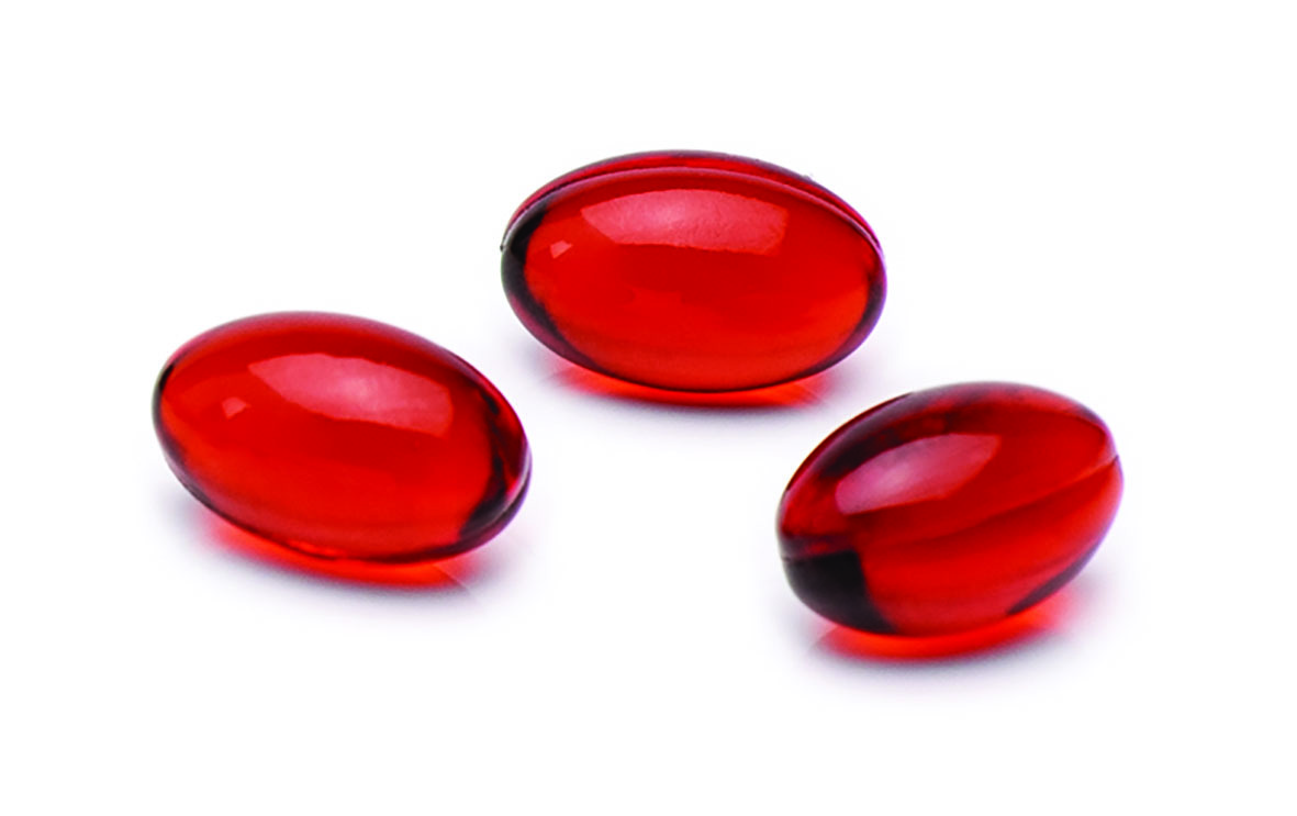 Red krill oil supplements