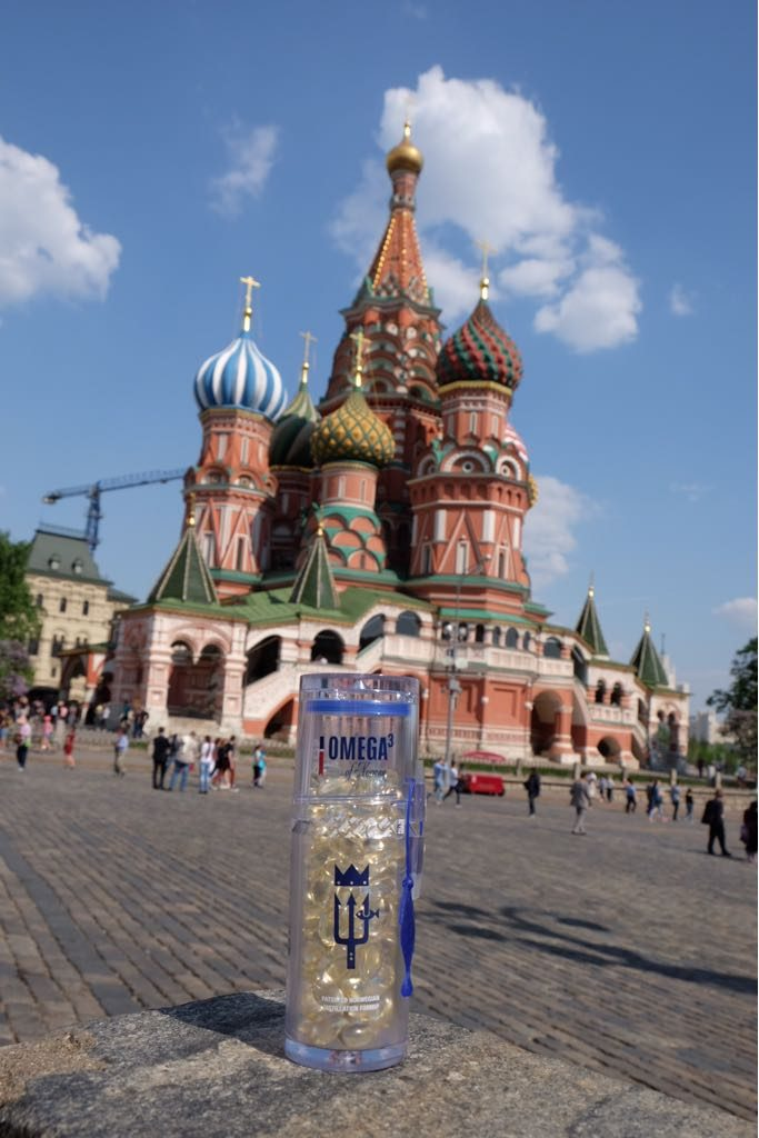 Norway Omega3 bottle at the Red Square